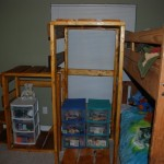 Bunk-bed shelf/ladder/stairs