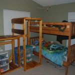Bunk-bed shelf/ladder/stairs angled