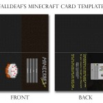 minecraft card template