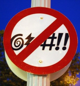 No cursing sign